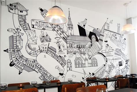 Ideas To Decorate Bathroom street art black and white art wall decal wall mural for
