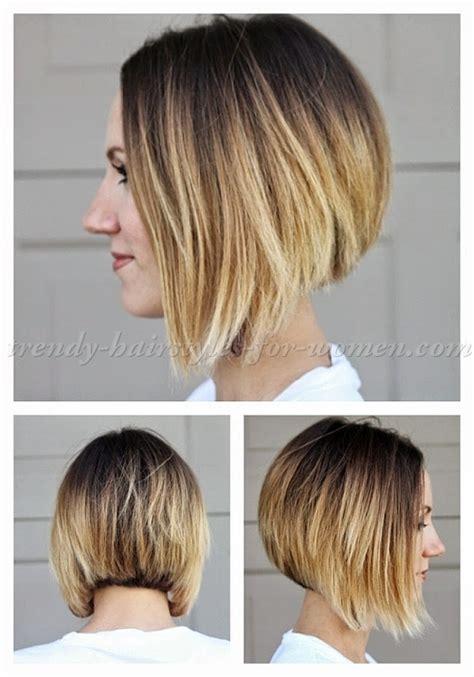 a line haircut ombre color bob haircut ombre a line bob haircut trendy hairstyles
