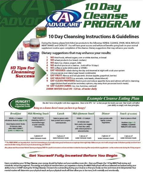 10 Day Detox Diet Recipe Guide by 17 Best Images About Advocare On Healthy