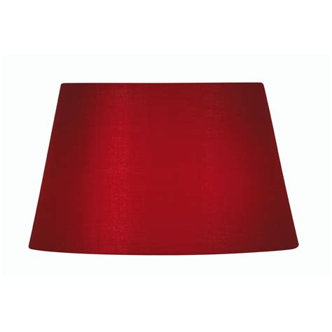 6 inch drum l shade red cotton drum l shade 6 inch s901 6rd oaks lighting