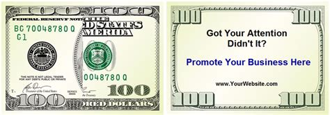 dollar bill business cards templates drop cards sizzle cards dollar cards and business cards