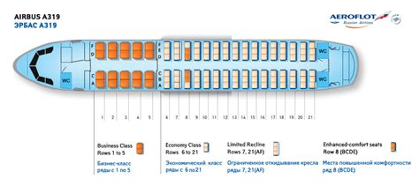 a319 seat map aeroflot airlines aircraft seatmaps airline seating maps