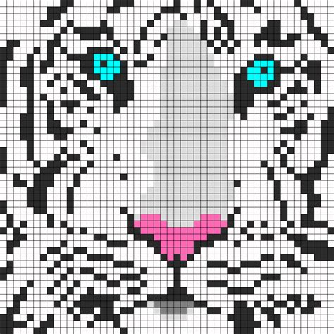 perler bead animal patterns white tiger perler perler bead pattern bead sprites