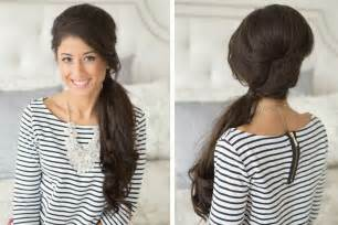 extension in back and side hair retro side pony tail youtube