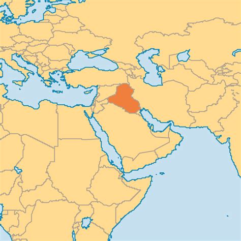 baghdad on world map iraq map world