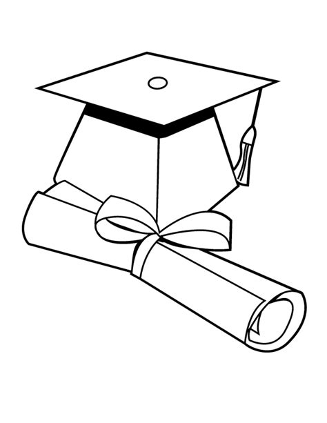 graduation coloring pages free graduation hat coloring page coloring home