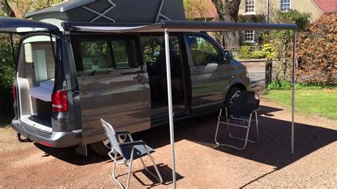 california awning vw t5 california awning table and chairs youtube