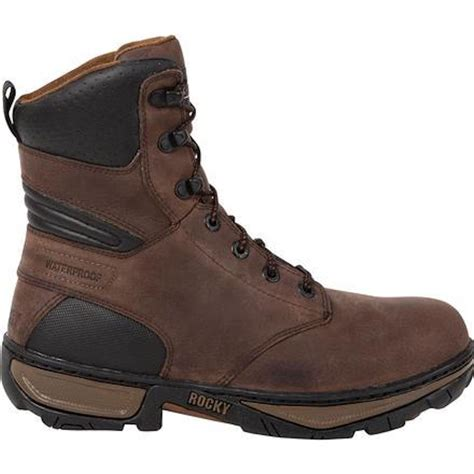 insulated mens boots rocky rk061 forge mens brown waterproof insulated work