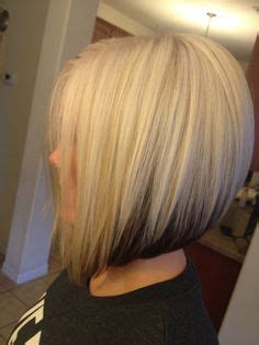 blonde bobbed hair with dark underneath 1000 images about hair styles on pinterest stacked bob
