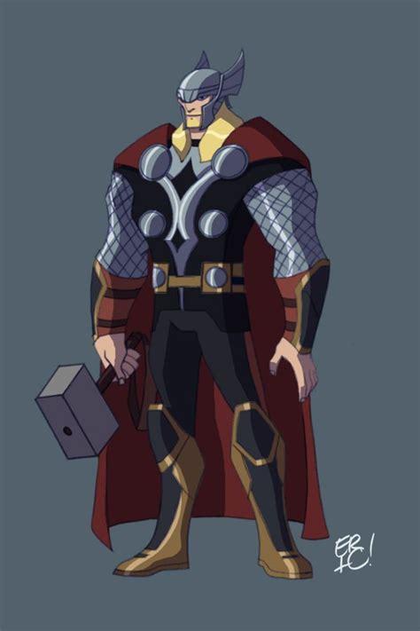 film thor cartoon animated thor by ericguzman deviantart com avengers