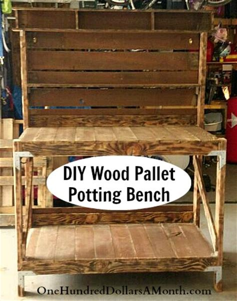 wood pallet potting bench pdf diy potting bench plans from pallets download porch