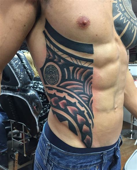 tribal tattoo on ribs cool rib tattoos for and guys rib cage