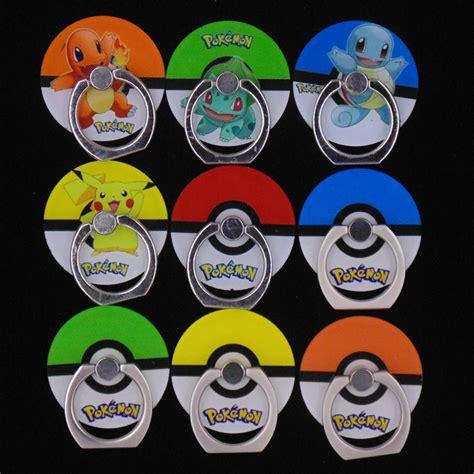 Promo Ring Holder Anti Fall Iring Stent Stand Hp Motif pokemons go pokeball phone ring holder 360 degree