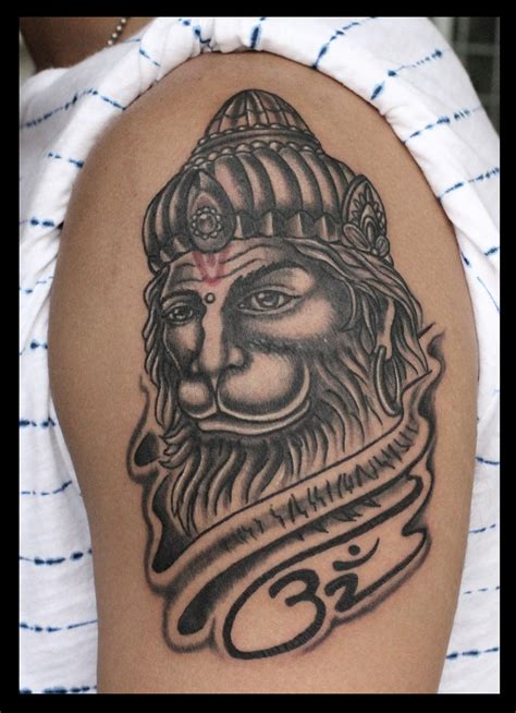 hanuman tattoo hanuman portrait by pradeep junior at astron