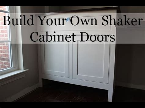 Make Your Own Kitchen Cabinet Doors Diy Shaker Cabinet Doors