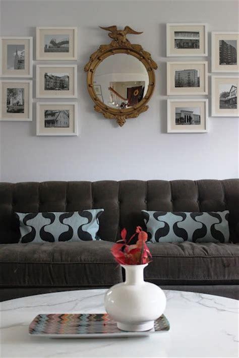 mirror collage sofa federal mirror photo collage gray sofa s ideas