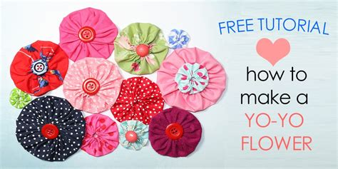 how to make fabric yo yos diy fabric flowers free template mct