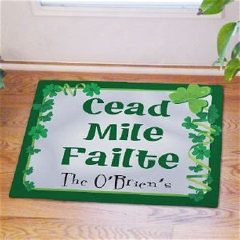 Cead Mile Failte Doormat personalized family name doormat blessing