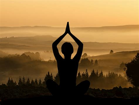 free images free images meditate meditation peaceful silhouettes