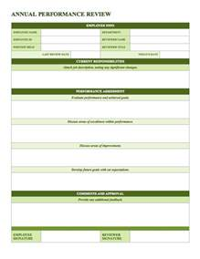 performance review template free employee performance review templates smartsheet