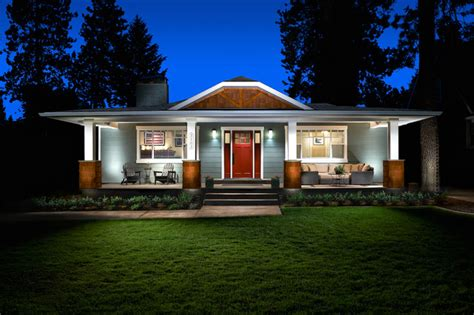 convert traditional home to modern mid century to craftsman conversion traditional