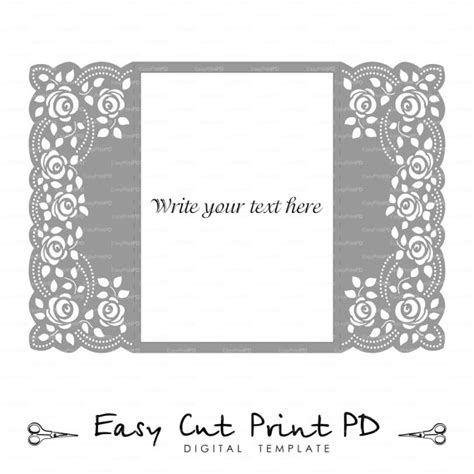 simple lace template for cards roses lace crochet doily wedding invitation 5x7 quot rustic