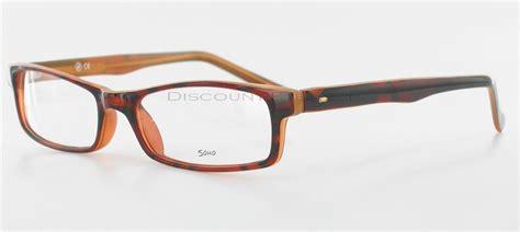 soho 56 rectangle eyeglass frame brown rectangular bold
