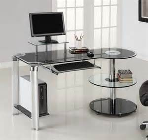 Glass Computer Desks For Home Glass Office Desk Ikea Homefurniture Org