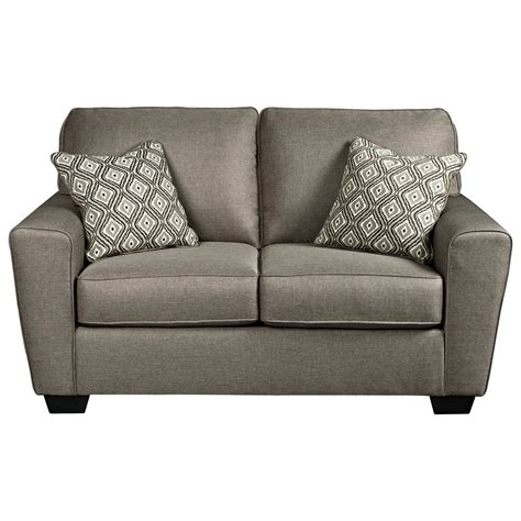 benchcraft couch benchcraft calicho 9120235 contemporary loveseat del sol