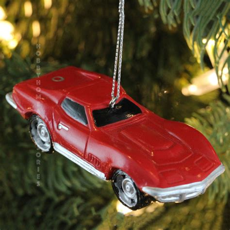 chevrolet 174 red corvette car personalized christmas tree