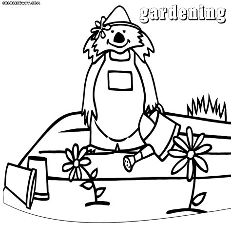 garden hoe coloring page garden gate free coloring pages