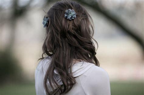 hair bind download wallpaper back young girl long brown hair flower bind