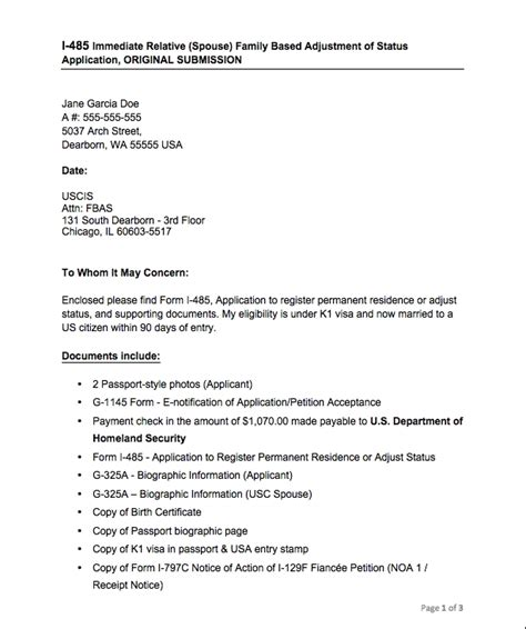cover letter for form i 130 the process for obtaining a