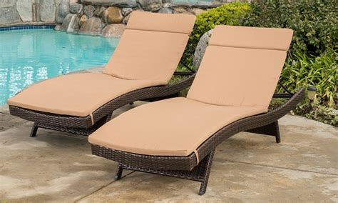 Lounge Chair Pads Outdoor by Cushion Pads For Outdoor Chaise Lounge Chairs 2 Pack