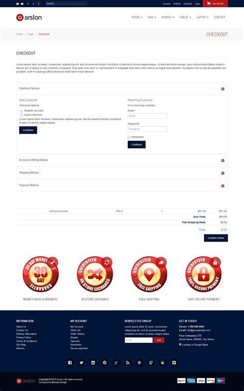 arslon premium e commerce template by mosaicdesign