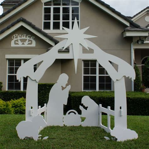 Christmas Outdoor Peace Sign Decoration Nativity Yard Sign Template