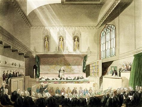 bench court court of king s bench westminster hall t rowlandson