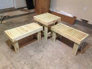 Bench Made From Old Bed Frame Patio Furniture Made Easy Backyard Beautification