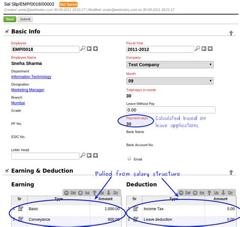 erpnext user manual how to create a salary voucher in