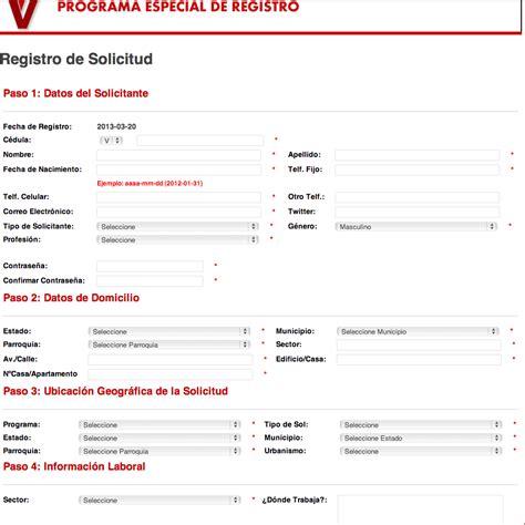 lista de mision vivienda lista de mision vivienda pagina para registrarse en la
