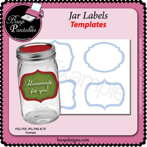 canning jar labels template 14 jar label templates free psd ai eps fotrmat free premium templates