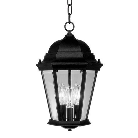 Chain For Light Fixtures Livex Hamilton 3 Light Black Outdoor Pendant Lighting Chain Hang Fixture 7564 04 Ebay