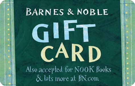 barnes noble green gift card 2000003505180 item barnes noble - Barnes And Noble Nook Book Gift Card
