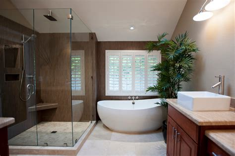 Modern Master Bathroom Remodel Ideas Carlsbad Master Bath Contemporary Bathroom San Diego