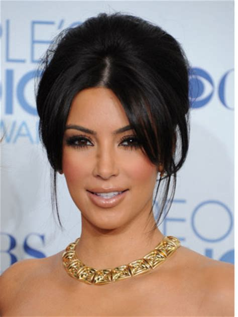 photo of kim kardashians mothers hairstyle the modern beehive and or french twist beauty make up