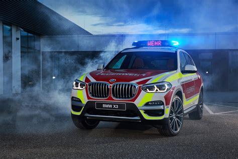 hot bmw  mini emergency vehicles displayed