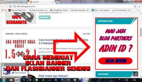 membuat iklan produk cara membuat iklan banner dan flash banner sendiri adin id
