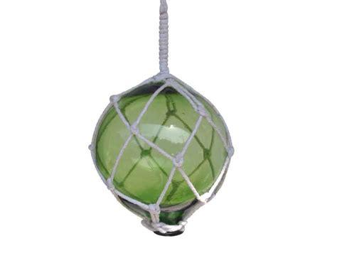 japanese glass buy green japanese glass fishing float with white netting decoratio