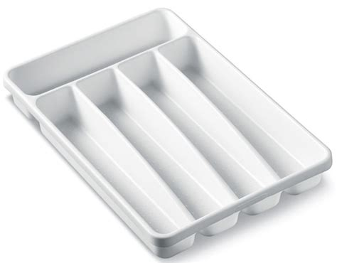 silverware tray white durable plastic small clean