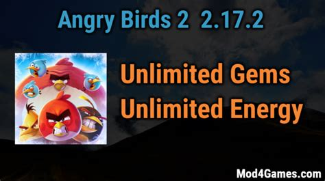 angry birds 2 mod free game angry birds 2 2 17 2 mod unlimited gems unlimited